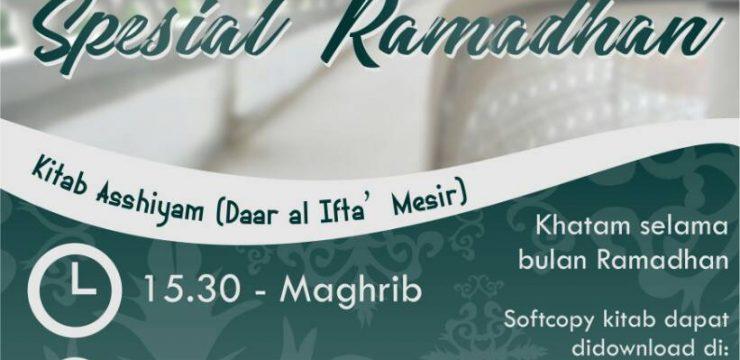 Jadwal Kajian Sore Spesial Ramadhan